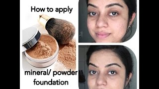 How to apply Mineral/ Powder Foundation | Everyday Foundation Routine for beginners