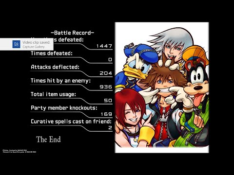 [Kingdom Hearts 1.5 Final Mix] Proud + Undefeated + Unchanging Armor + Speedster IN ONE RUN