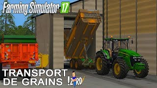 TRANSPORT DE GRAIN AVEC STERVIO ! | Farming Simulator 2017 🚜🌾