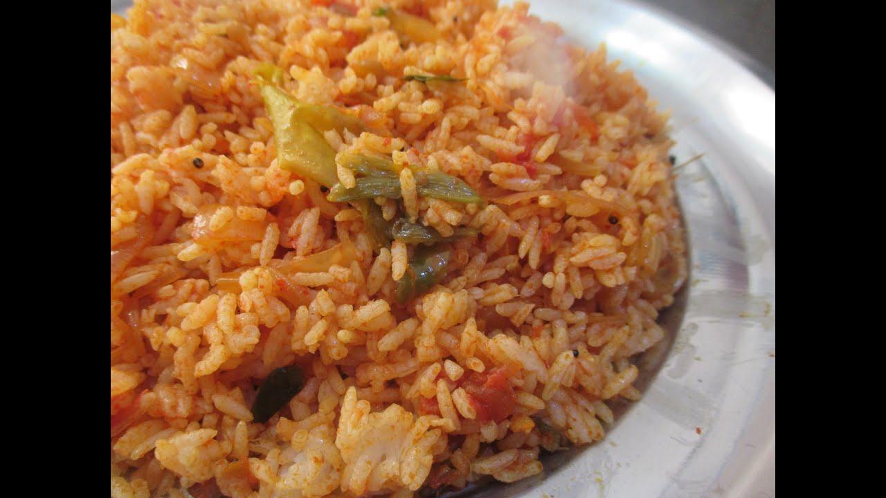 Tomato rice or thakkali sadam in tamil youtube ccuart Choice Image
