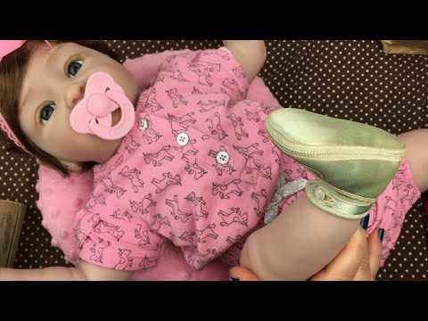 Trying Antique Vintage Baby Shoes On Paradise Galleries Pretty In Pink Doll