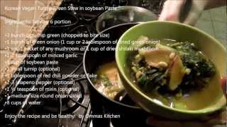 Korean Turnip Green Soup With Soybean Paste By Omma's Kitchen