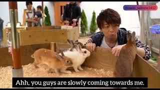 『ENG SUB』Kimura Ryouhei playing with Bunnies