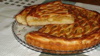 Яблочный пирог без яиц. Apple pie without eggs.
