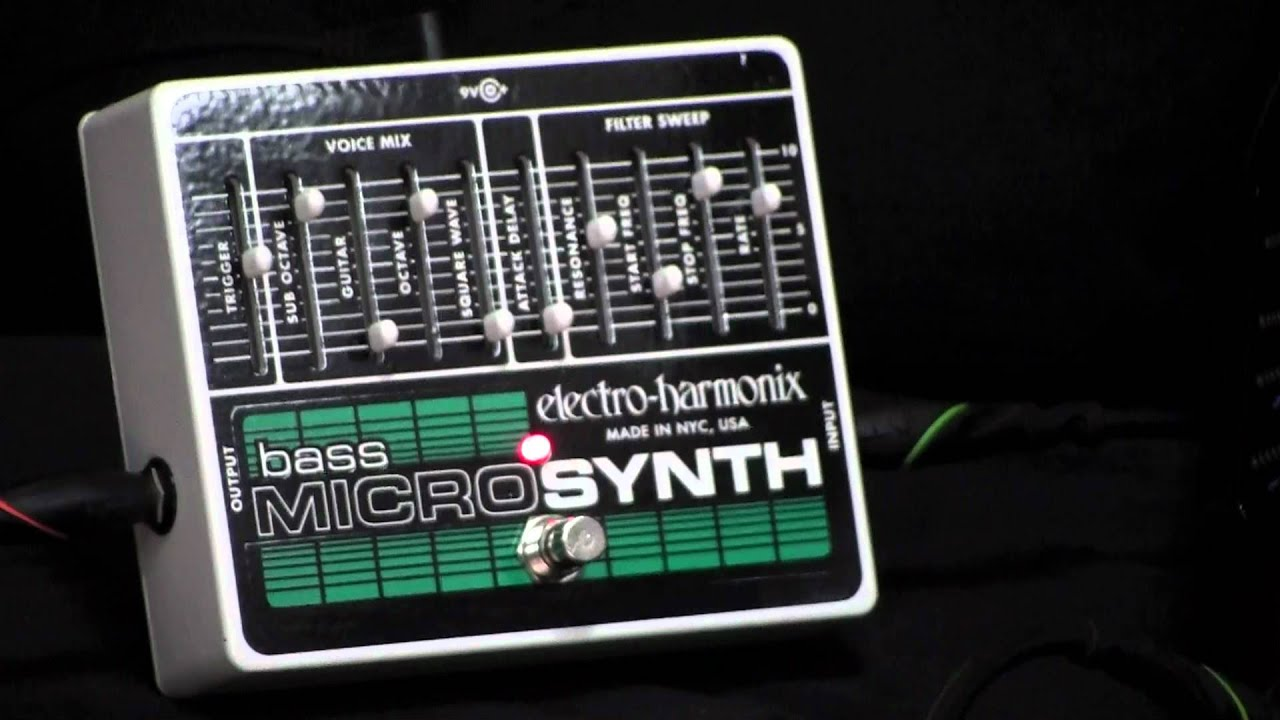 ehx bass micro synth w fretless at 13th street guitars youtube. Black Bedroom Furniture Sets. Home Design Ideas