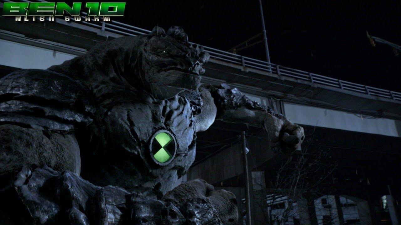 Download Ben 10: Alien Swarm - Humungousaur Battles Nanochips (Giant Spike Ball) | Fight Scene HD