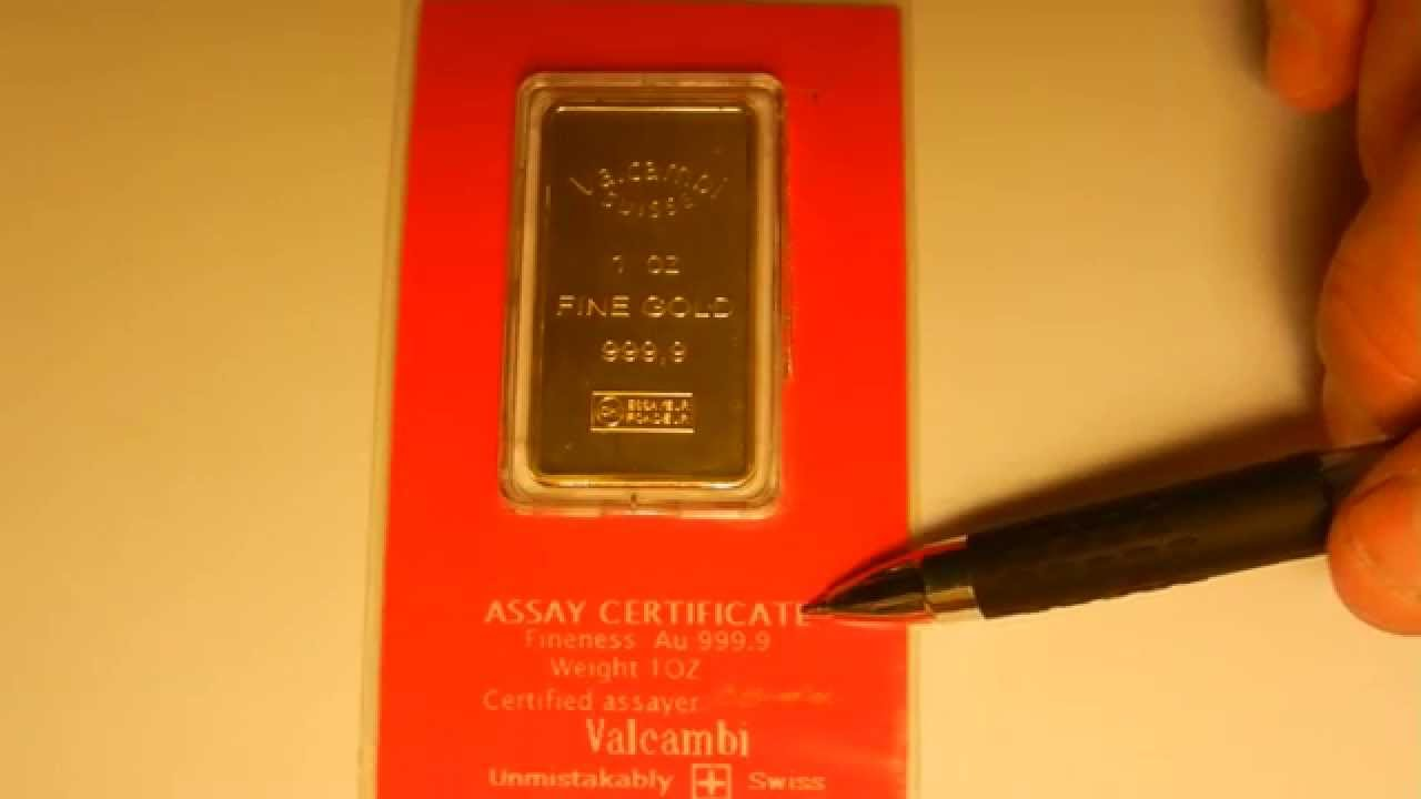 How To Spot A Fake 1 Oz Gold Bar What To Look For Youtube