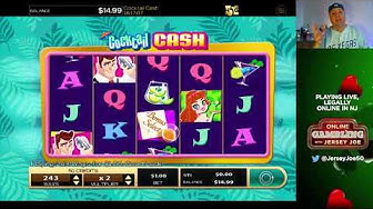 Cocktail Cash LIVE slot machine play [Online Gambling with Jersey Joe # 36]