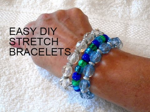 jewelry making easy stretch bracelets for kids to make