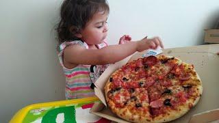 Ayşe Ebrarın Karnı Çok Acıktı Pizza Sipariş Etti🍕 🍕