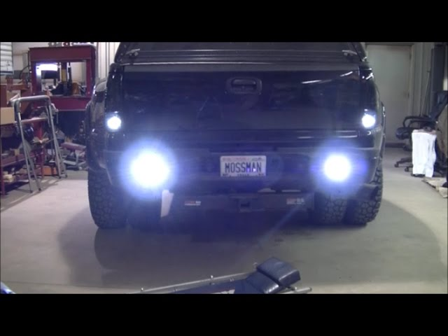 Darth Dually Jdm Astar Led Backup Bulbs And Pods In Rear Bumper Install