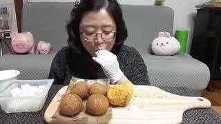 bhc 뿌링클 닭다리와 치즈볼 먹방~^^mukbang