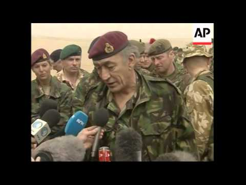 UK chief of general staff meets British troops stationed in Kuwait