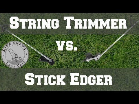 Echo SRM-225 String Trimmer  vs Echo PE-225 Stick Edger for edging. What is the best?