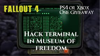 Fallout 4 - Gameplay Walkthrough - Hack Terminal in Museum of Freedom