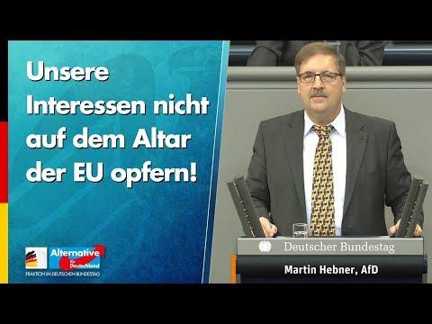 Unsere Interessen nicht auf dem Altar der EU opfern! - Martin Hebner