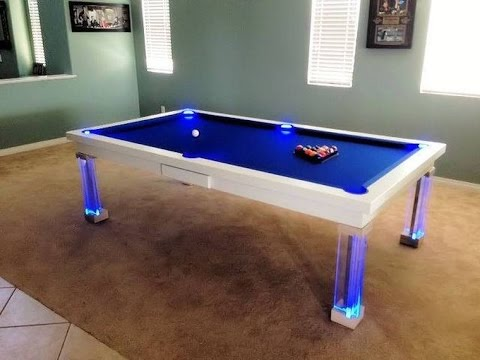 Neon Dining Pool Table YouTube - Neon pool table