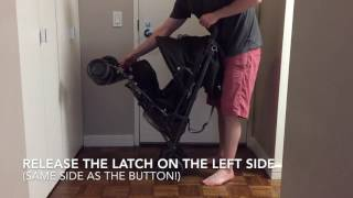 How to fold an Uppababy G-Luxe umbrella stroller