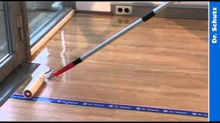 Floor coating and sealing of resilient floors with PU Sealer