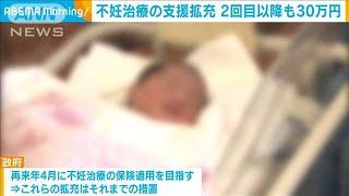 不妊治療の支援を拡充 2回目以降も30万円 厚労省(2020年12月16日) - YouTube