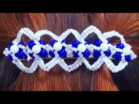 Заколка из бисера своими руками | DIY Bead Hair Clip