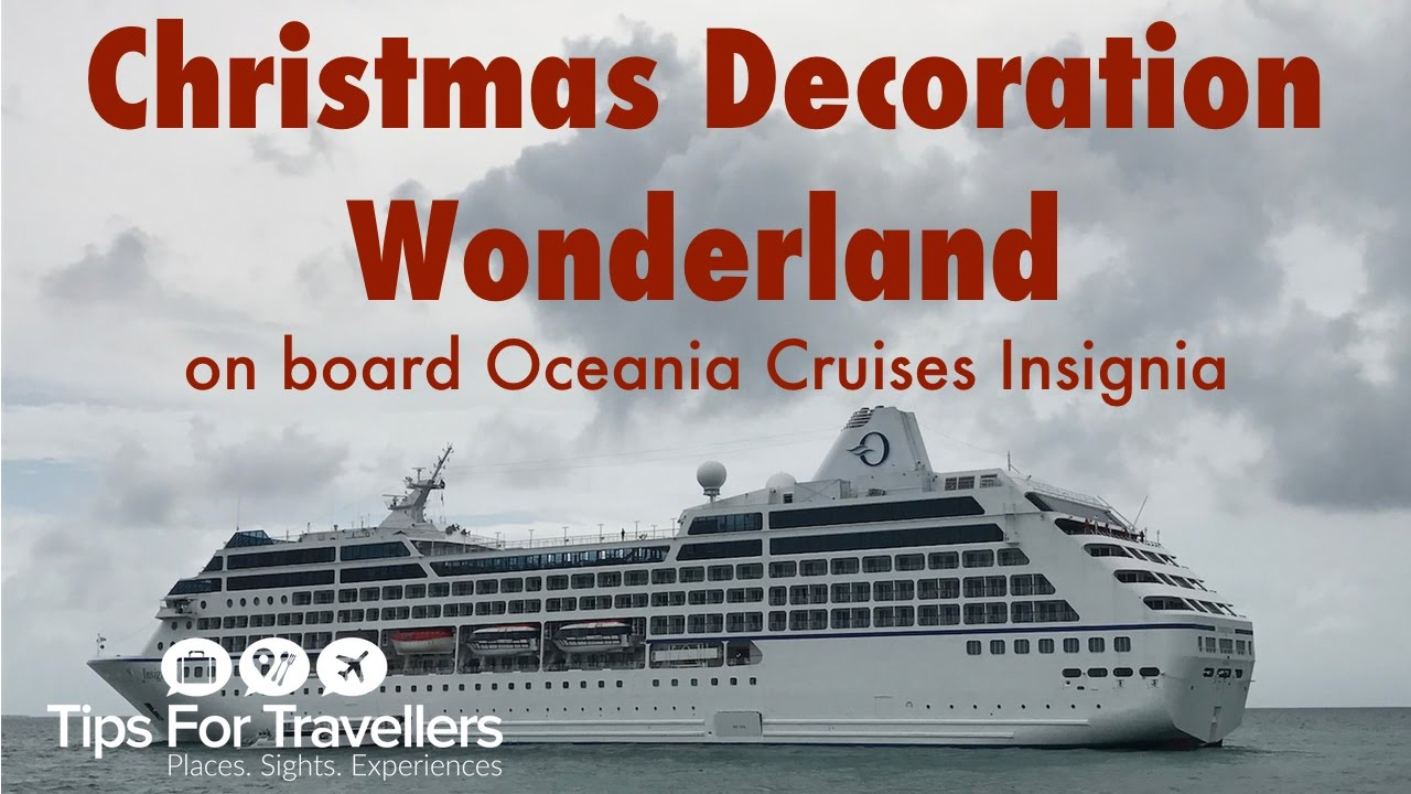 oceania insignia christmas decorations horribly tacky or gorgeous festive wonderland you decide youtube - When Do Cruise Ships Decorated For Christmas