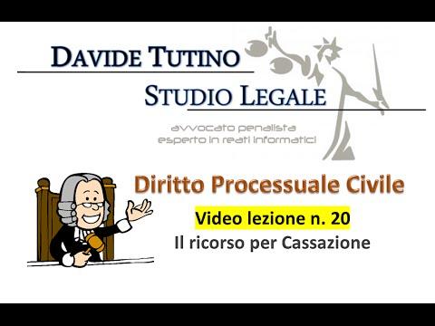 Diritto processuale civile - Video Lezione n.20: Il ricorso per cassazione