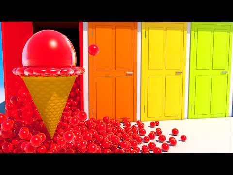 Thumbnail: Teach Colors with Ice Cream and Colored Doors for Kids and Children