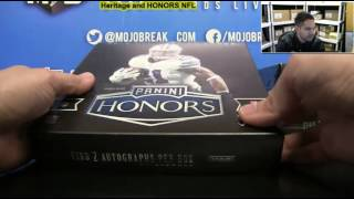 2016 Panini Honors Football 10 Box Case Break #1