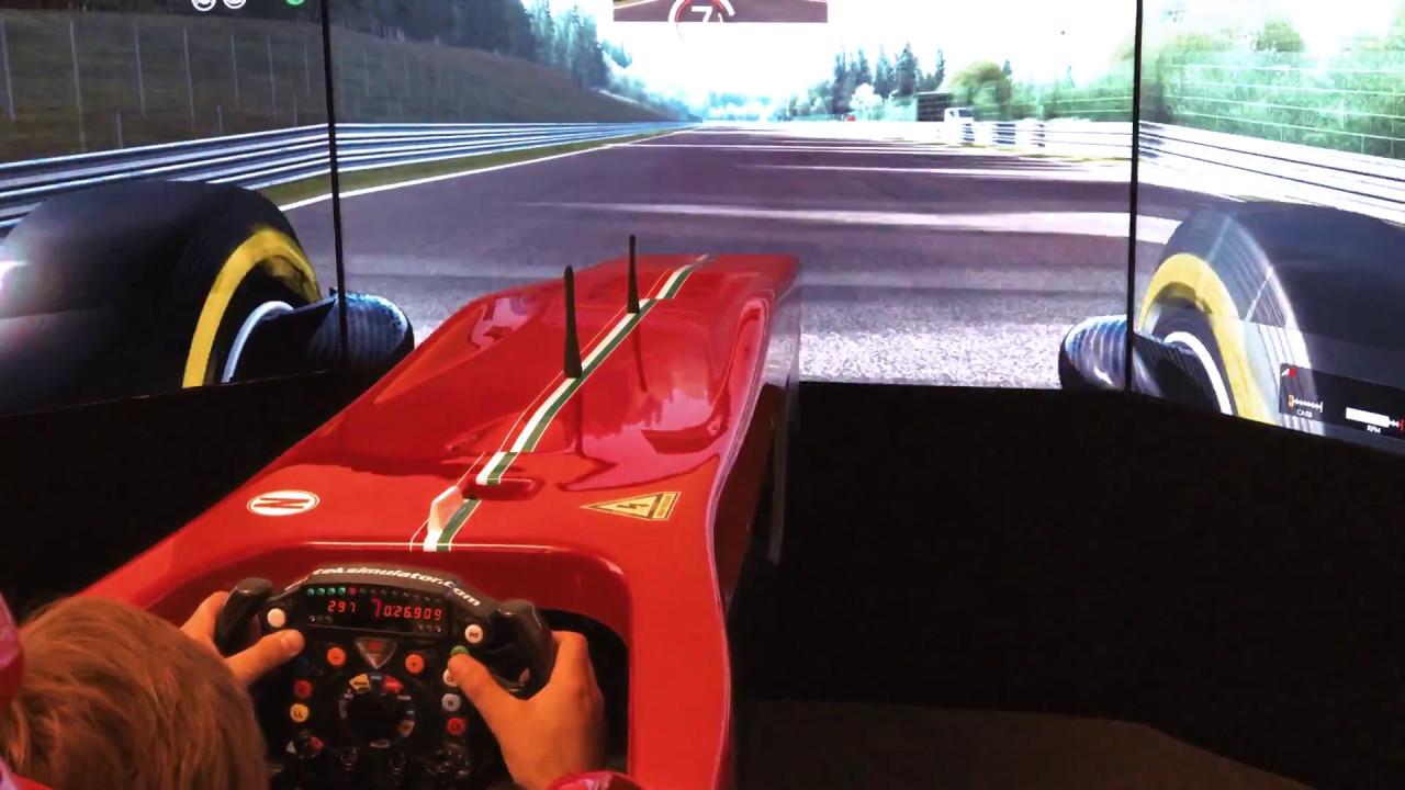 Evotek F1 Simulator tested by Andrea Montermini at Atellani Milano