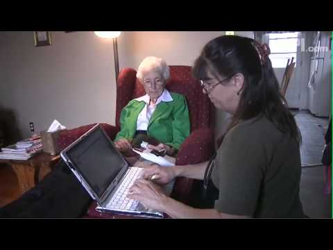Hospice at home: Nurse provides care and company