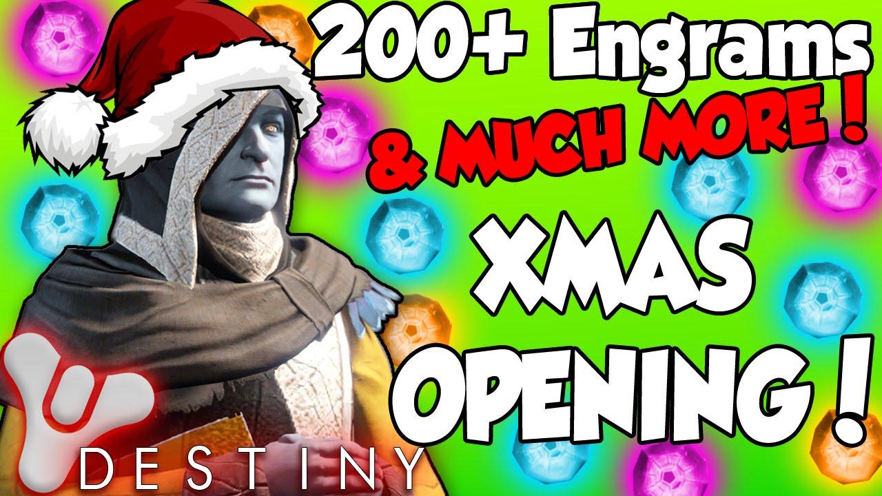 Destiny CHRISTMAS Special - 200+ Engram Opening w/ 10+ Legendary ...
