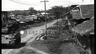 United States army and tanks at the town of Tacloban in Island of Philippine. HD Stock Footage