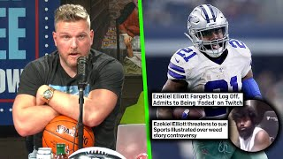Pat McAfee Reacts To Ezekiel Elliot Saying He's Faded On Twitch.