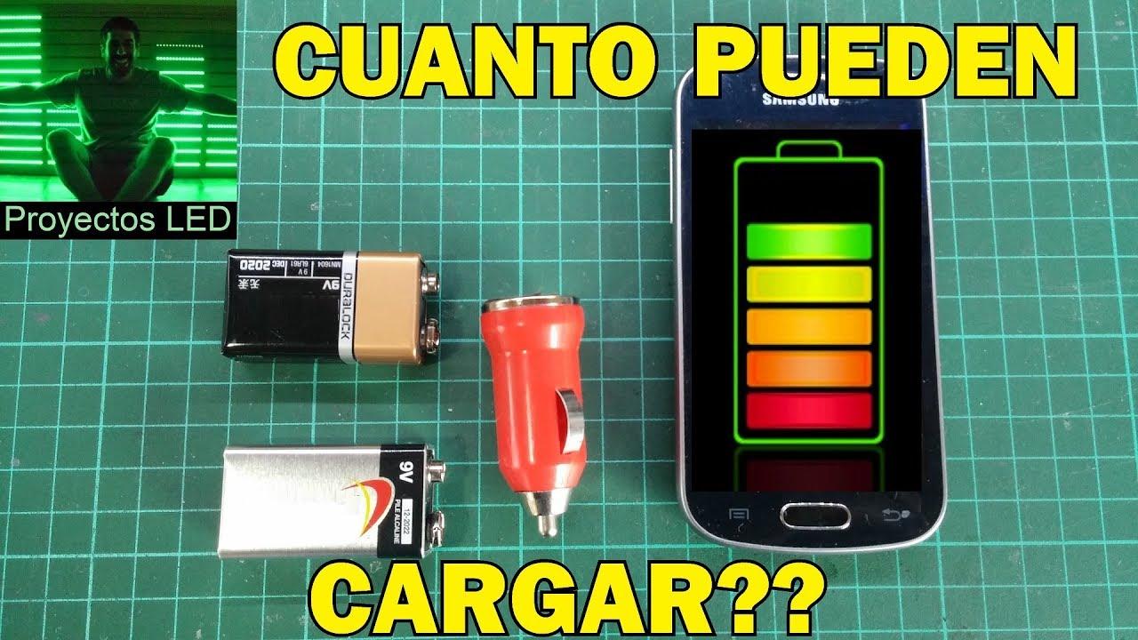 10e2dcc32fb Cuanto puede cargar una bateria de 9v a un celular? - YouTube