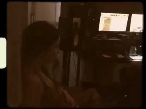 Nikki Reed in a music studio