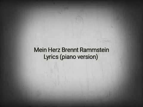 Rammstein Mein Herz brennt lyrics |lyrics Channel