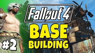 Fallout 4 - Building a Base! #2 Expanding Fort Ginger.