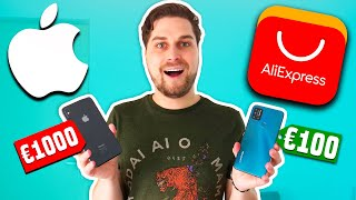 Beste €100 AliExpress Smartphone VS €1000 iPhone!😱