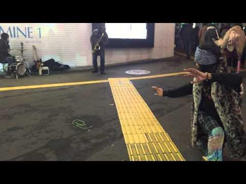 Avant-garde street Jazz at Shinjuku station, Tokyo, Japan