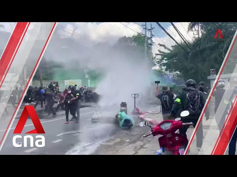 Thai police fire tear gas, water cannon at parliament protest