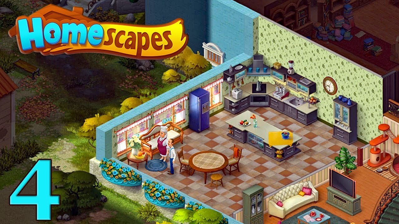 Homescapes Gameplay Story Kitchen Day 4 кухня день 4
