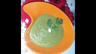 Coriander and peanut chutney , testy and with few ingredients chutney,