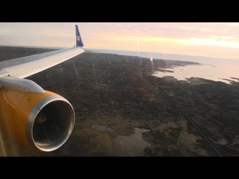 Welcome to Iceland!!!  Fantastic HD 757 Landing In Reykjavik On Icelandair!!!