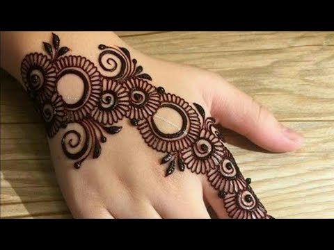 arabic stylish mehndi designs back side
