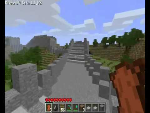 minecraft build great wall of china