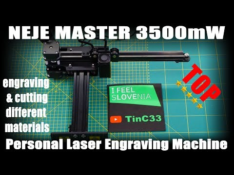 NEJE MASTER 3500 Laser Engraver [review / software / first test on different material]