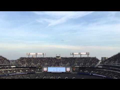 Army Navy Game 2014 Navy Enters Field and Blue Angels Flyover