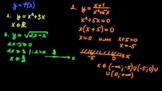 §88 Нахождение области определения функции