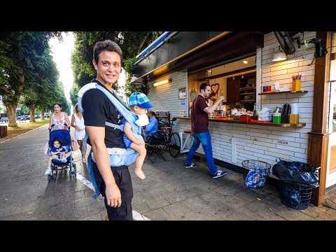 Tel Aviv Evening Walk -  Coffee Kiosk, Supermarket, and Neighborhood Tour!